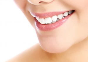 woman smiling perfect white teeth