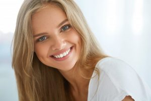blonde woman beautiful smile