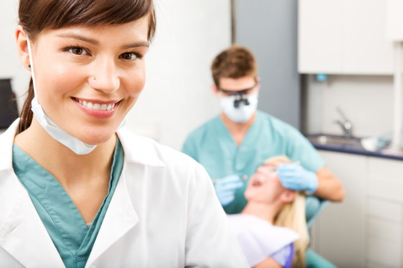 a dental assistant